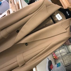 Beige camel trench coat (never worn/with tags)